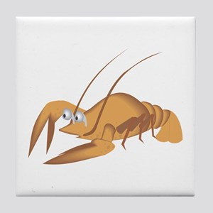 Lobster with long antennas Tile Coaster