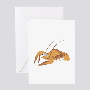 Lobster with long antennas Greeting Cards