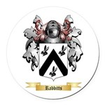 Rabbitts Round Car Magnet