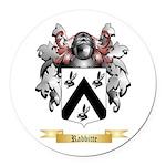 Rabbitte Round Car Magnet