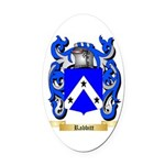 Rabbitt Oval Car Magnet