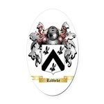 Rabbeke Oval Car Magnet