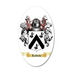 Rabbeke 35x21 Oval Wall Decal