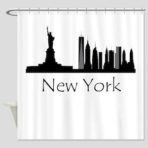 New York City Cityscape Shower Curtain