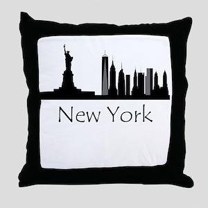 New York City Cityscape Throw Pillow