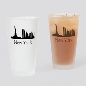 New York City Cityscape Drinking Glass