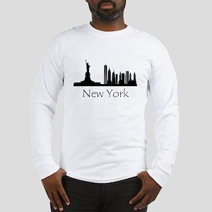 New York City Cityscape Long Sleeve T-Shirt