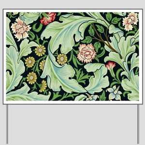 Acanthus and Flowers by William Morris Yard Sign