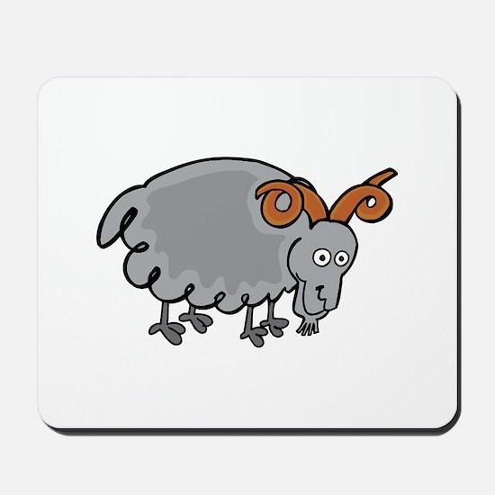 Icelandic sheep cartoon Mousepad
