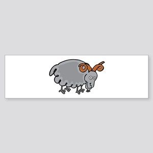 Icelandic sheep cartoon Bumper Sticker