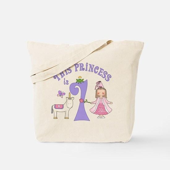 Unicorn Princess First Birthday Tote Bag