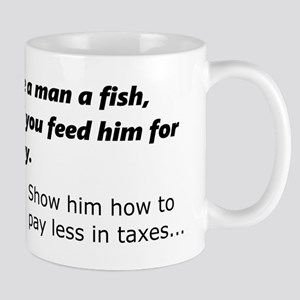 Fish or less taxes Mugs