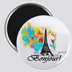 BONJOUR EIFFEL TOWER PARIS Magnets