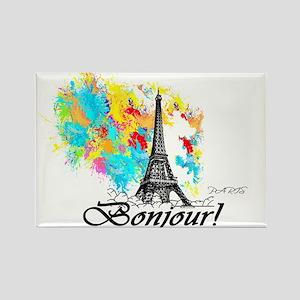 BONJOUR EIFFEL TOWER PARIS Magnets