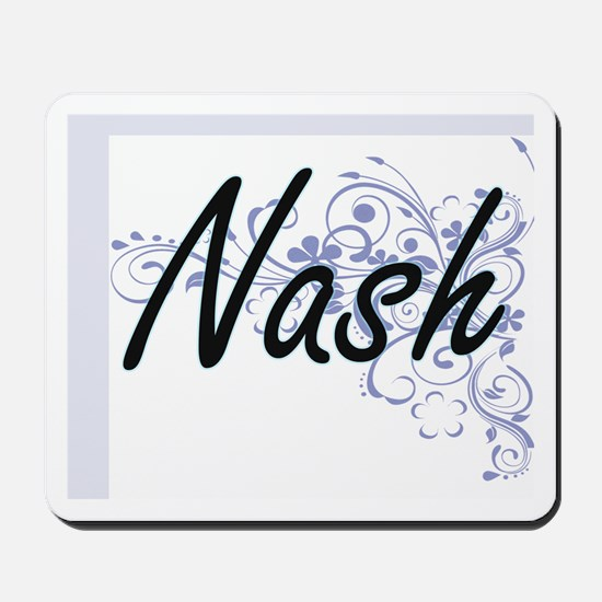 Nash surname artistic design with Flower Mousepad