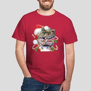 Dino Christmas Dark T-Shirt