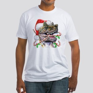 Dino Christmas Fitted T-Shirt
