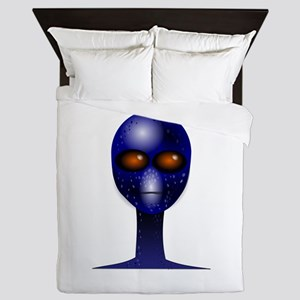 Alien Face clip art Queen Duvet