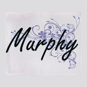 Murphy surname artistic design with Throw Blanket