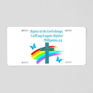 PHILIPPIANS 4:4 Aluminum License Plate