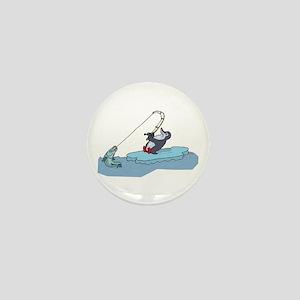 Fishing Penguin Mini Button