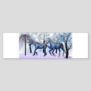 Snow Horses Bumper Sticker