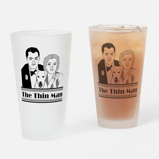 The Thin Man Drinking Glass