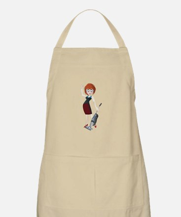 Young girl with vacuum cleaner Apron