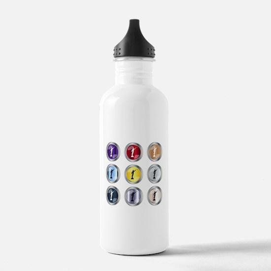 Round Moroni Button Water Bottle