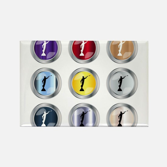 Round Moroni Button Magnets