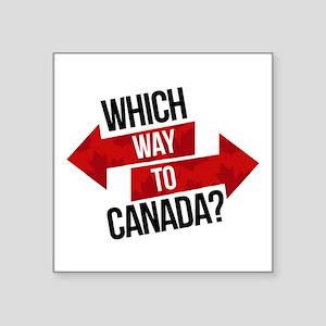 Which Way To Canada? Sticker
