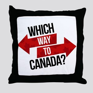 Which Way To Canada? Throw Pillow