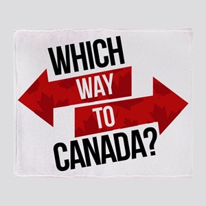 Which Way To Canada? Throw Blanket