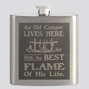 An Old Camper And The Best Flame Of His Life Flask
