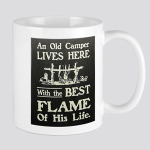 An Old Camper and The Best Flame of His Life Mugs
