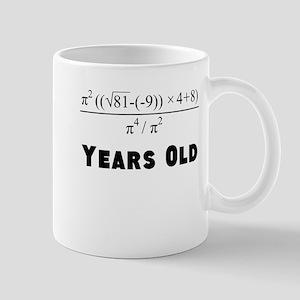 Algebra Equation 80th Birthday Mugs
