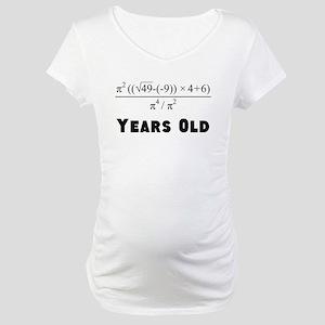 Algebra Equation 70th Birthday Maternity T-Shirt