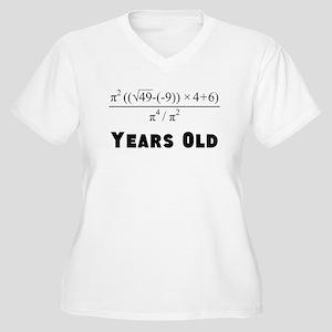 Algebra Equation 70th Birthday Plus Size T-Shirt