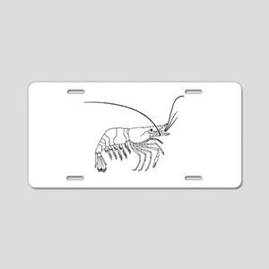 Prawn silhouette Aluminum License Plate