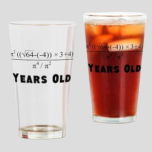 Algebra Equation 40th Birthday Drinking Glass
