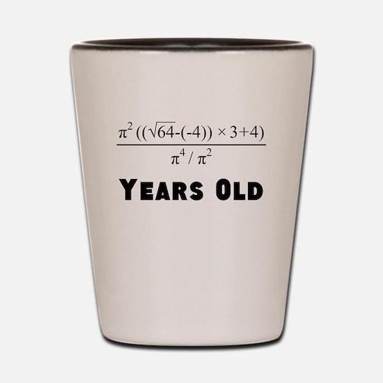 Algebra Equation 40th Birthday Shot Glass