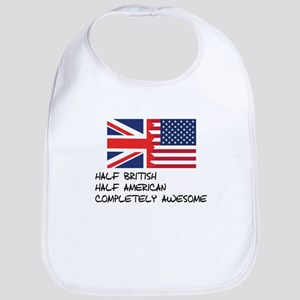 Half British Completely Awesome Bib