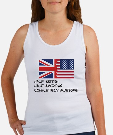 Half British Completely Awesome Tank Top