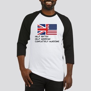 Half British Completely Awesome Baseball Jersey
