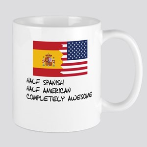 Half Spanish Completely Awesome Mugs