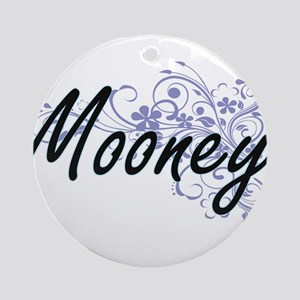 Mooney surname artistic design with Round Ornament