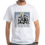 Baby Crossword Puzzle White T-Shirt