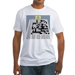Baby Crossword Puzzle Fitted T-Shirt