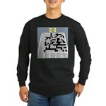Baby Crossword Puzzle Long Sleeve Dark T-Shirt