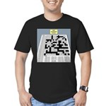 Baby Crossword Puzzle Men's Fitted T-Shirt (dark)